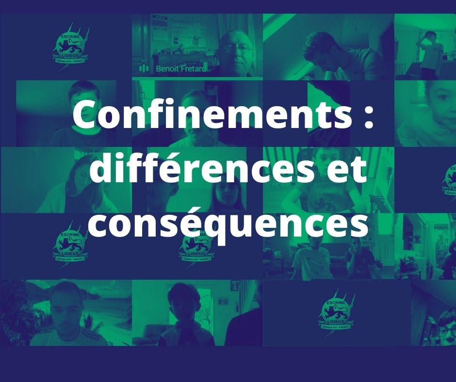 Différences confinement
