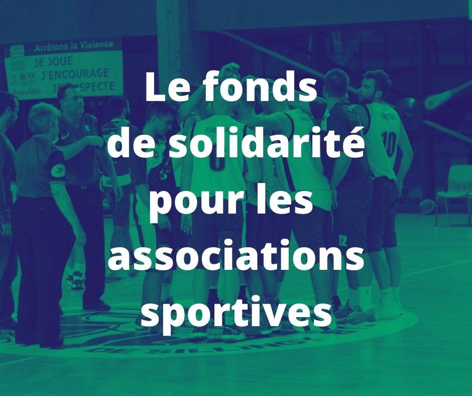 Le fonds de solidarité pour les associations sportives